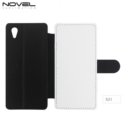 Double Protection Sublimation Blank PU Leather Wallet For Sony XZ1