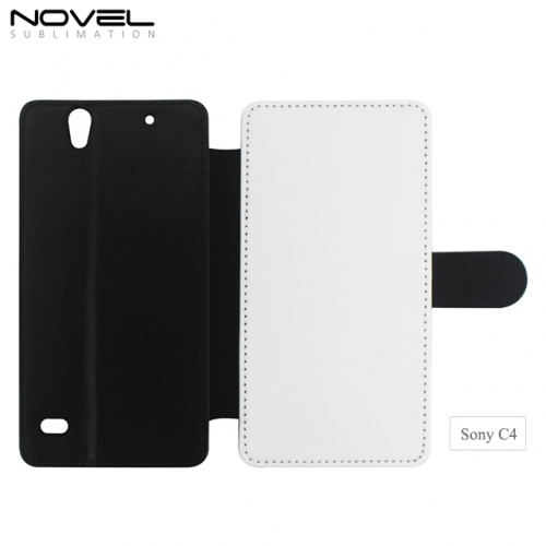 Hot Sales Sublimation Blank PU Leather PC Phone Case For Sony C4