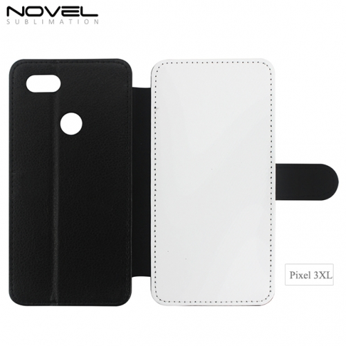 2D Blank Sublimation PU Leather Flip Case For Google Pixel 3XL