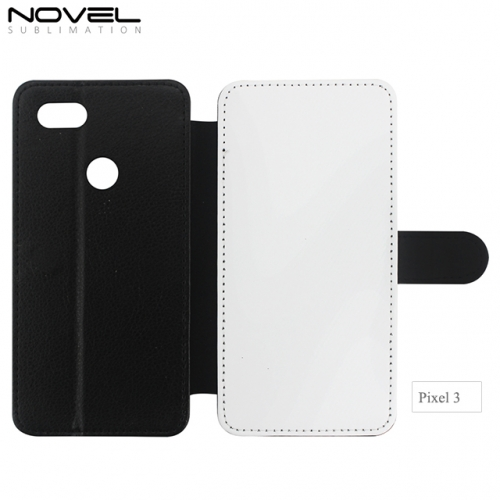 High Quality Blank Sublimation PU Leather Wallet For Google Pixel 3