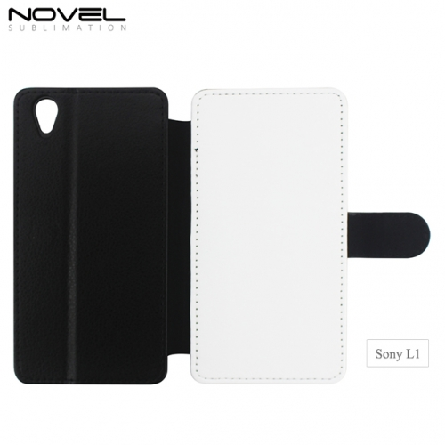 Custom Sublimation PC Blank PU Leather Phone Case For Sony L1