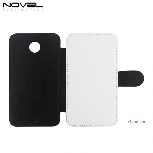 Factory Blank Sublimation PU Leather PC Flip Case For Google 6
