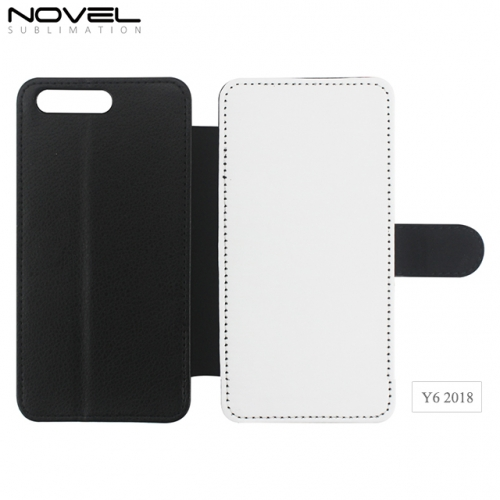 Factory Blank Sublimation PU Leather Wallet For Huawei Y6 2018