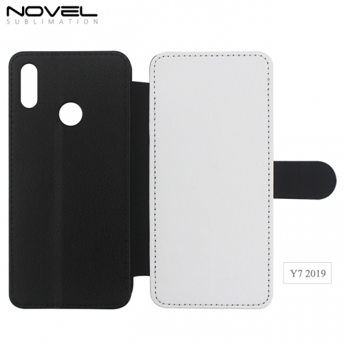 High Quality Blank Sublimation PU Leather Wallet For Huawei Y7 2019