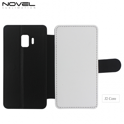 High Quality Blank 2D PU Leather PC Case For Galaxy J2 Core