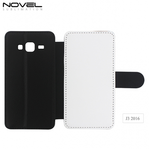 Factory Wholesales 2D PU Leather Blank PC Phone Cover For Galaxy J3 2016
