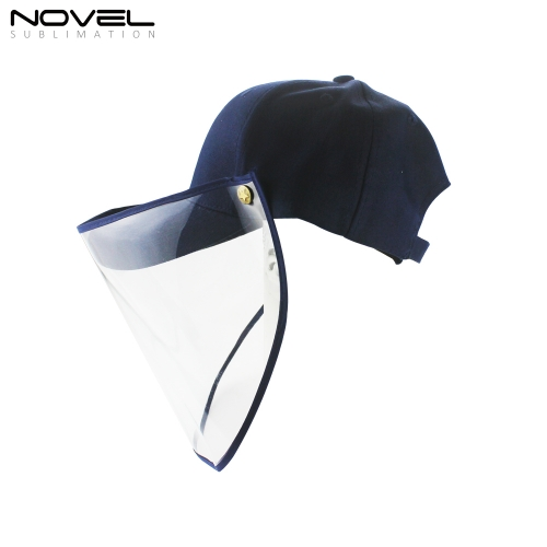 New High Quality Baseball Cap With Face Shield
