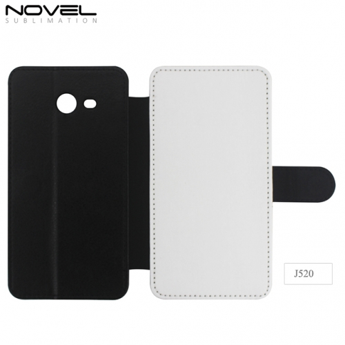Custom Blank 2D PU Leather PC Cellphone Cover For Galaxy J520