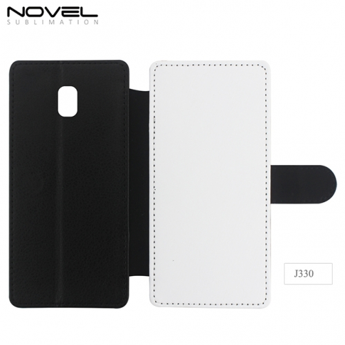 Custom Blank 2D PU Leather Filp Wallet For Sam sung Galaxy J330