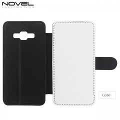 Sublimation Blank 2D PU Leather Filp Wallet For Galaxy G360