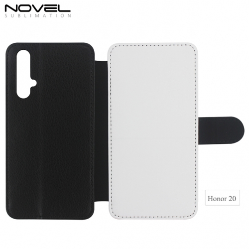 2020 2D Double Blank Sublimation PU Leather Wallet For Huawei Honor 20