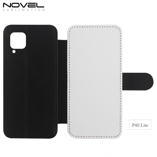 New Arrival Double Blank Sublimation PU Leather Wallet For Huawei P40 Lite