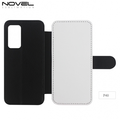 2020 New  Blank Sublimation PU Leather PC Wallet For Huawei P40
