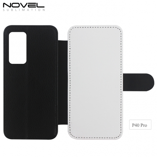 2020 Hot Sales Blank Sublimation PU Leather Wallet  For Huawei P40 Pro