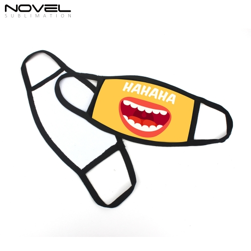 Fashionable Printing Sublimation Blank Black Trim Masks
