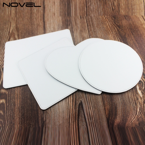 New Arrival Sublimation Blank PU Leather Mouse Pad With Different Shapes
