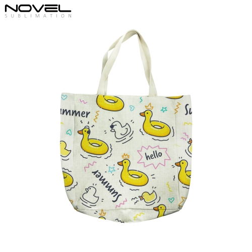 New Arrival Blank Sublimation Canvas Big Shoulder Bags For Shopping