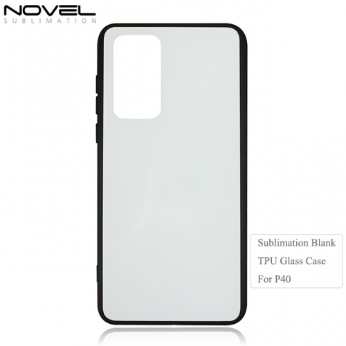 2020 New 2D Tempered TPU Glass Phone Case for Huawei P40
