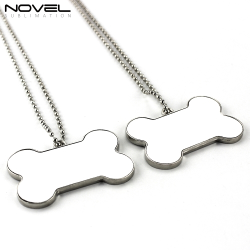 Personality Design Sublimation DIY Blank Bone Shaped Dog Tag