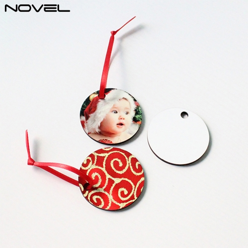 Blank Sublimation 3mm Double side MDF Ornaments With Round Shape