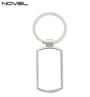 Hot-sale Popular Design Metal Sublimation Blank Rectangle Keyring