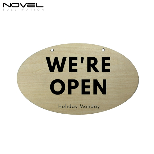 New Arrival Sublimation Blank Custom Wooden Oval Door Hanging