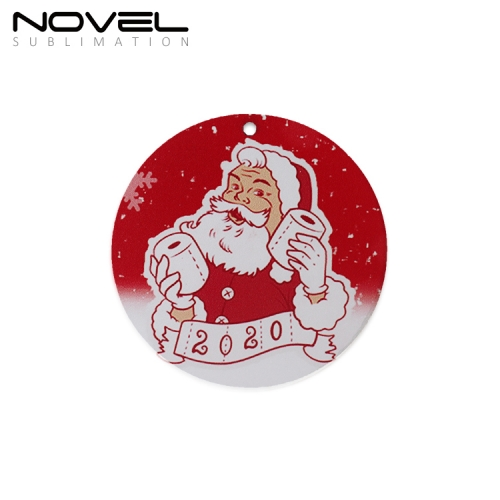 New Arrival Sublimation Blank 3mm Round MDF Ornaments