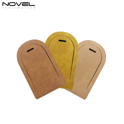New Arrival Blank Sublimation Colorful Arch PU  Luggage Tag