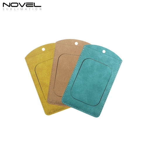 New Arrival Blank Sublimation Colorful Small Rectangle Employee Badge with Hanging Rope