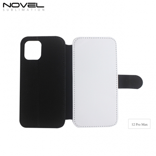 Blank Sublimation PU leather Wallet Case For iPhone 12 Pro Max