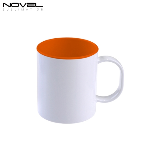 11oz Sublimation Ceramic Colored Rim Coffee Mug