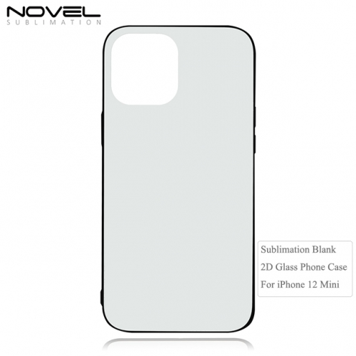 New Trend Sublimation 2D Tempered Glass Phone Case For iPhone 12 Mini