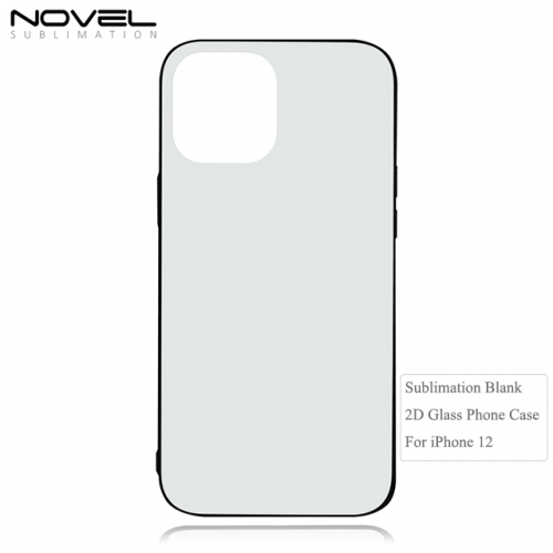 Customized Sublimation 2D Tempered Glass Phone Case For iPhone 12