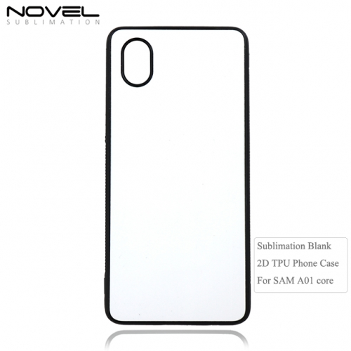New Arrival 2D Sublimation Blank TPU Mobile Phone Back Cover For SAM Galaxy A01 Core