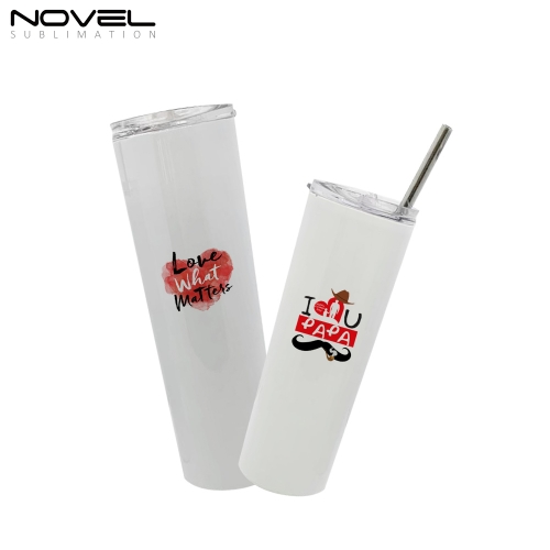 HOT-SALE White Custom Printing 30oz Stainless Steel Straw Cup