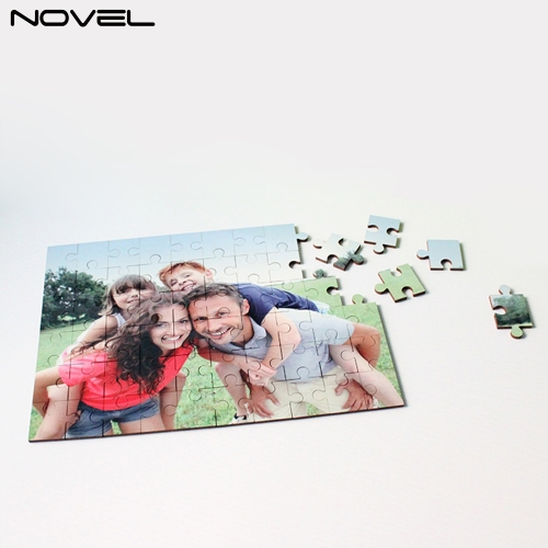 Puzzle Game Customized Sublimation Blank MDF Puzzle 60pcs