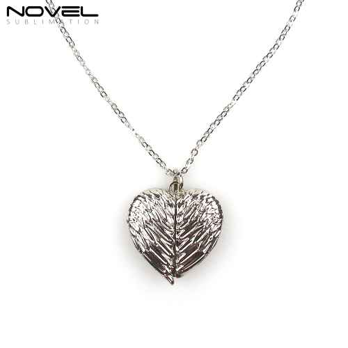 For Gifts Sublimation Blank Angel Wings Chain Necklace