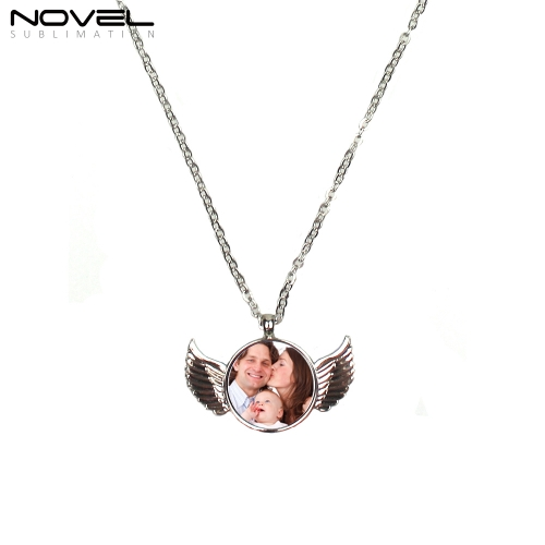 Personal Sublimation Blank Chain Necklace with Angel Shape
