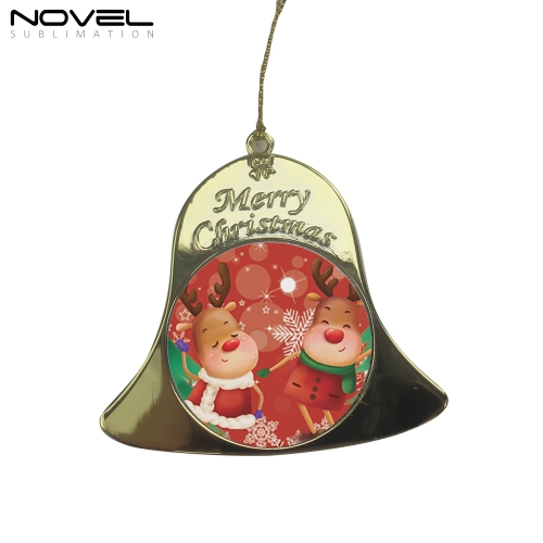 Personalized Design Blank Sublimation Printing Bell Christmas Ornament
