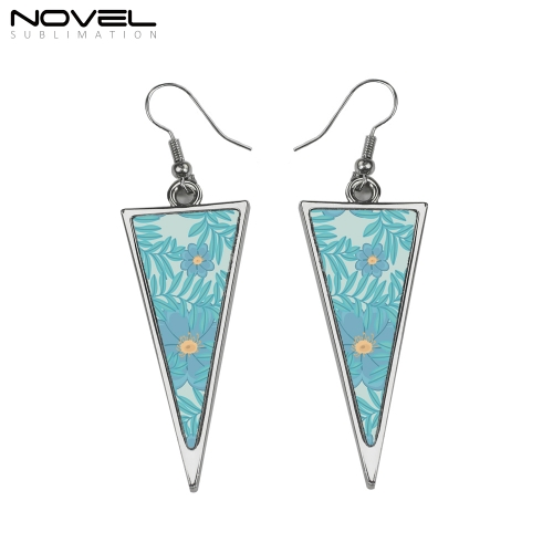 DIY Fashion Sublimation Blank Long Triangle Earrings