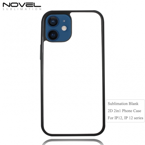 Custom Sublimation Blank 2D 2in1 Phone Case For iPhone 12, IP 12 series