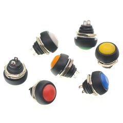 Waterproof automatic reset button switch round 12mm