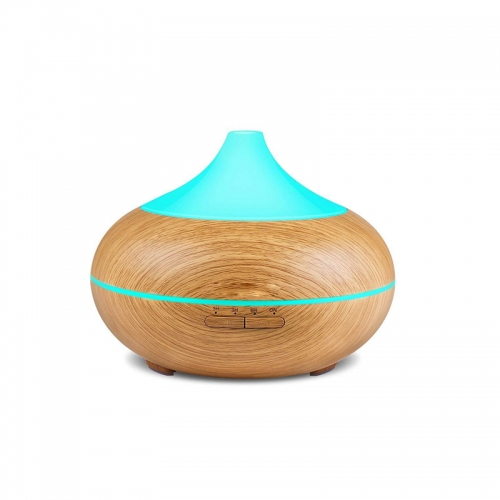 500ml Aroma Essential Oil Diffuser Wood Grain Ultrasonic Cool Mist Humidifier