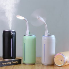 Aluminium Humidifier With LED Light And Mini Fan Incense Smoke Misty Cans