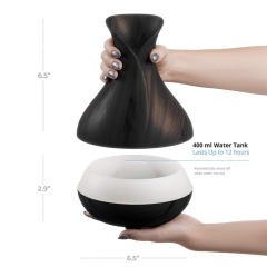400ML Wifi Smart Wooden Vase Electronic Air Humidifier