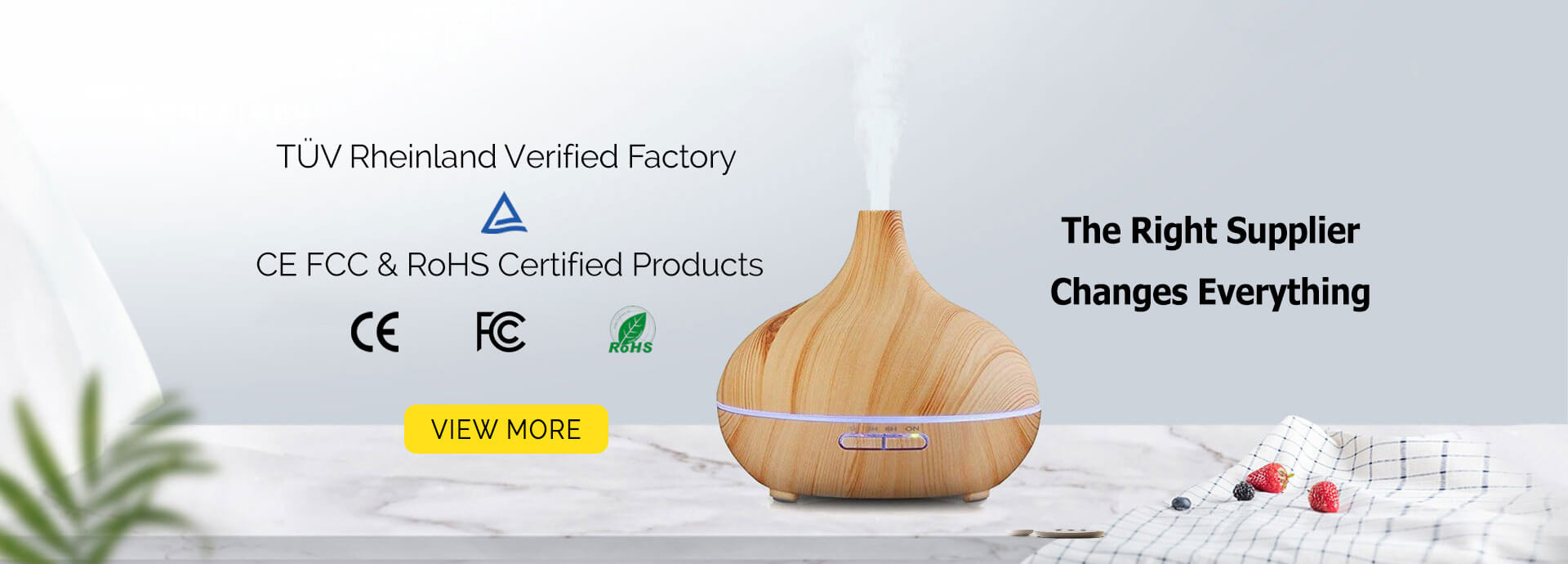 Certified Aroma Diffusers Factory