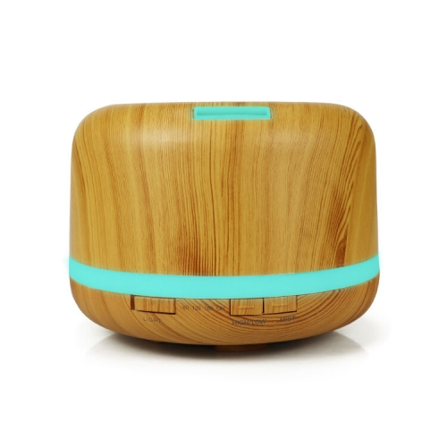 Wooden Grain 500ml Essential Oil Aroma Diffuser Ultrasonic Air Humidifier With 7 Color LED Lights