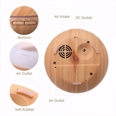 Wood Grain Aroma Diffuser Essential Oil Diffuser 300ml Aromatherapy Humidifier Anion Design