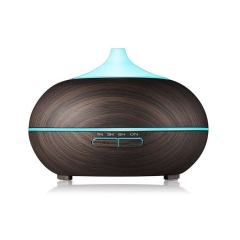 300ml Aroma Diffuser Wood Grain Essential Oil LED Diffuser for Home Office Use
