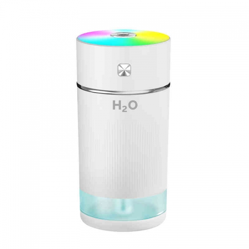 Car Portable Rechargeable Ultrasonic Color Cup Humidifier With Romantic Light